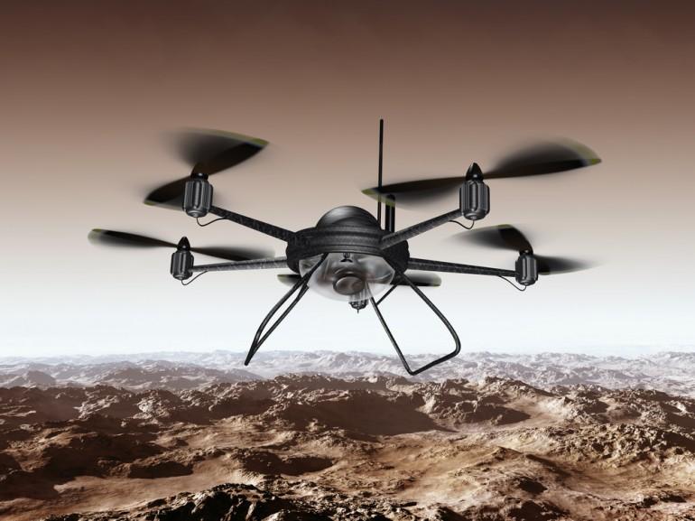 trafico materiales con drones