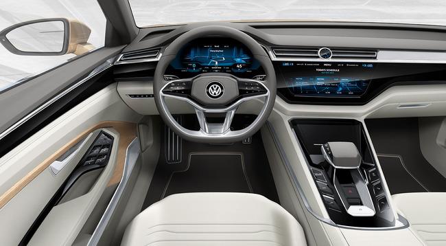 Volkswagen C Coupe GTE Concept 2015 interior 06