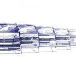 Volkswagen Transporter T1-T6 evolucion diseno