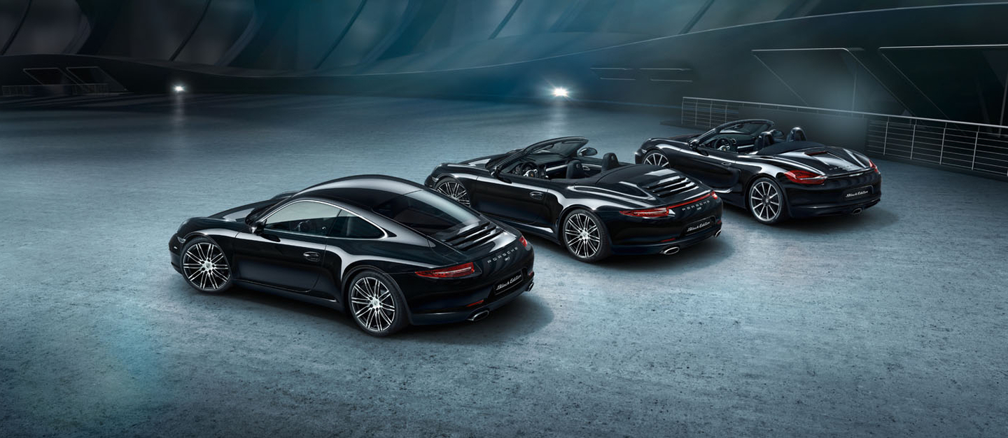 Porsche Black Edition 2015 gama