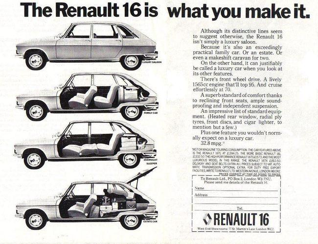 Renault 16 publicidad