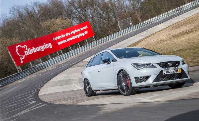 SEAT Leon ST Cupra record Nurbrurgring 2015