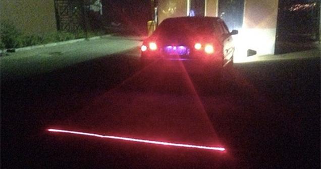 luz laser trasera