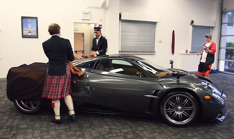 Pagani Huayra Scozia entrega