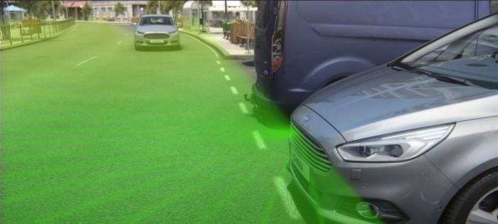 Ford camara frontal split-view