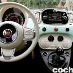 prueba Fiat 500 2015 interior 2