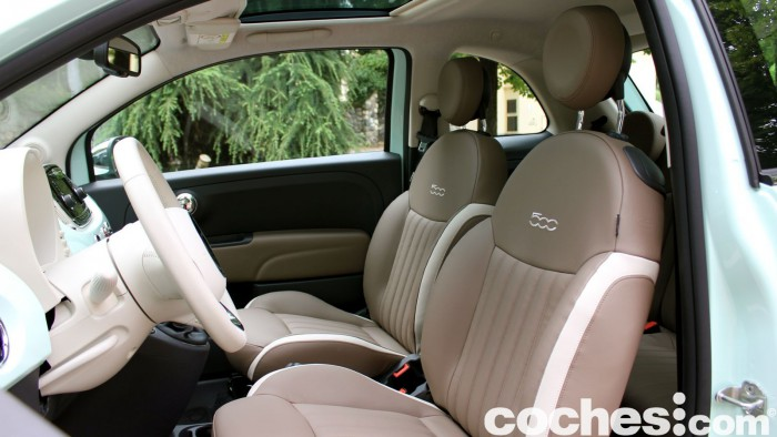 prueba Fiat 500 2015 interior 9