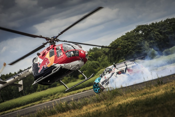 Jakub Przygoński & Felix Baumgartner at Heli Drifting, Poland on June 15, 2015