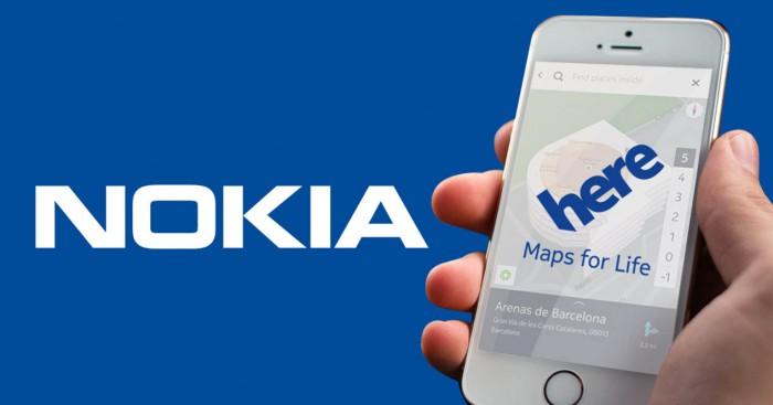 Hokia Here mapas