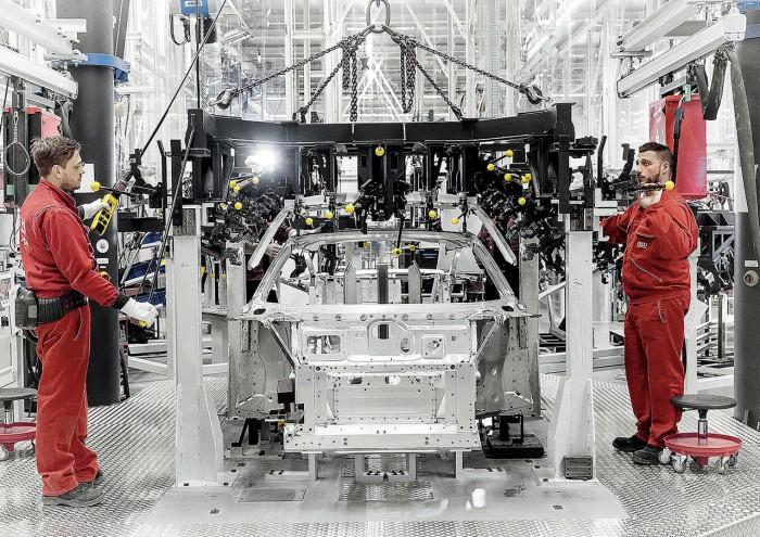 Audi R8 2015 fabricacion 3