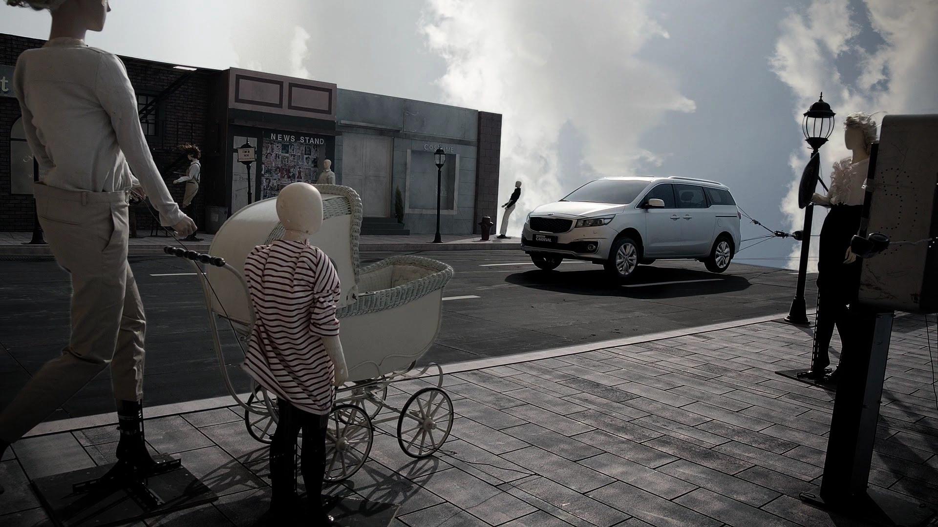 Kia Grand Carnival crash test anuncio
