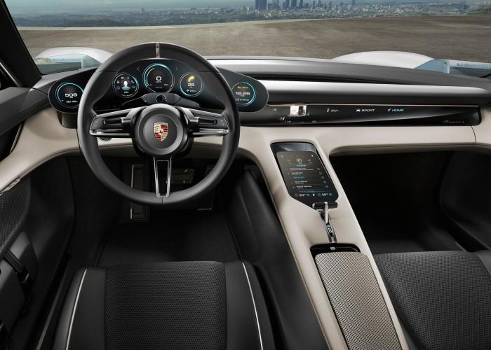 Porsche Mission E Concept 2015 interior 01