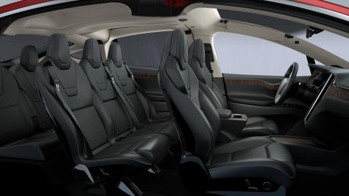 Tesla Model X 2016 interior 01