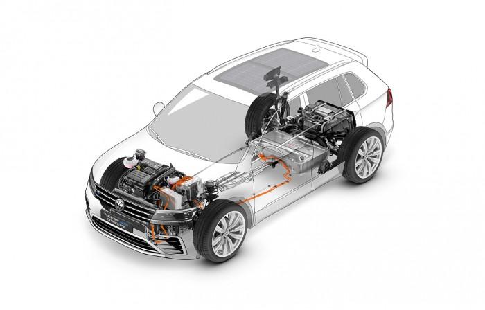 Volkswagen Tiguan GTE Concept 2016 tecnica 02