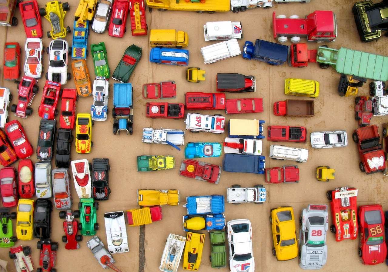 atasco coches juguete