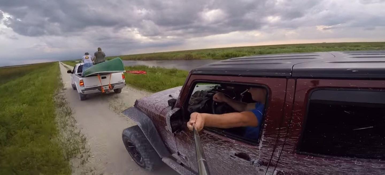 palo selfie accidente jeep