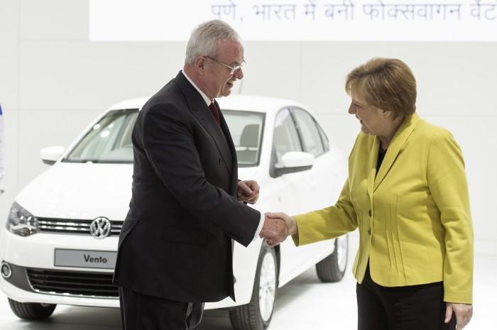 Bundeskanzlerin Merkel und Indiens Ministerpraesident Modi zu Gast bei Volkswagen auf der Hannover Messe 2015