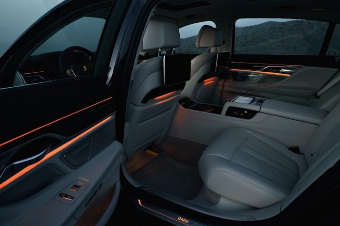 BMW Serie 7 iluminacion interior