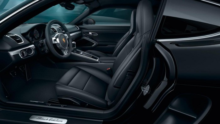 Porsche Cayman Black Edition 2015 interior