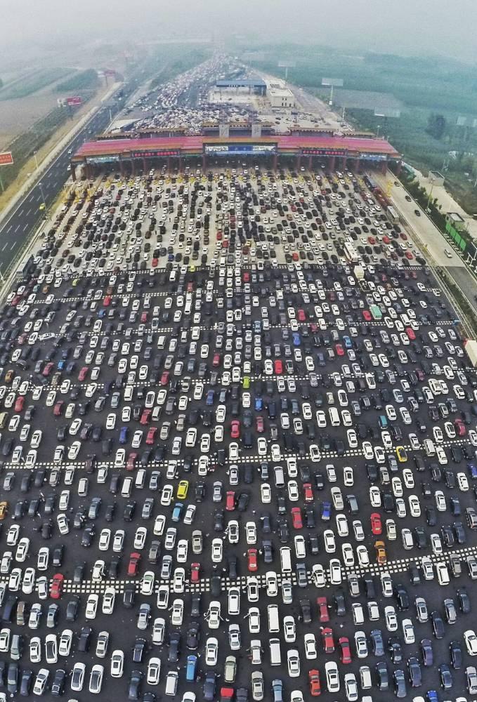 gran atasco china 2015