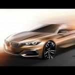 BMW Compact Sedan Concept 2015 bocetos 3