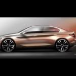 BMW Compact Sedan Concept 2015 bocetos 4
