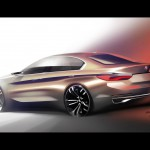 BMW Compact Sedan Concept 2015 bocetos 5