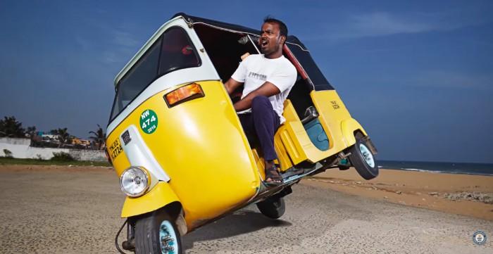 Jagathish M Guinness World Record tuk-tuk