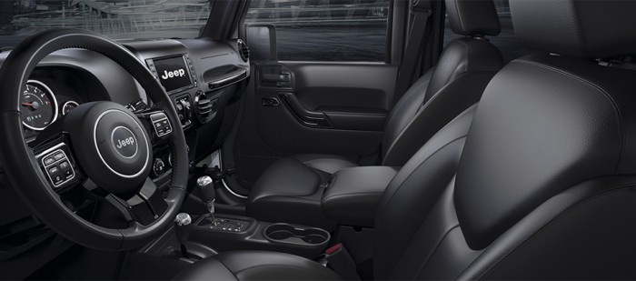Jeep Wrangler Black Line 2015 interior 01