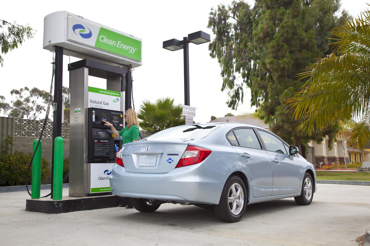 coche de gas natural