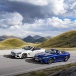 AMG SL 63 (Diamantweiß), SL 500 (Brilliantblau)AMG SL 63 (diamond white), SL 500 (brilliant blue)