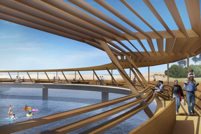 Puente circular uruguay Laguna Garzon 04