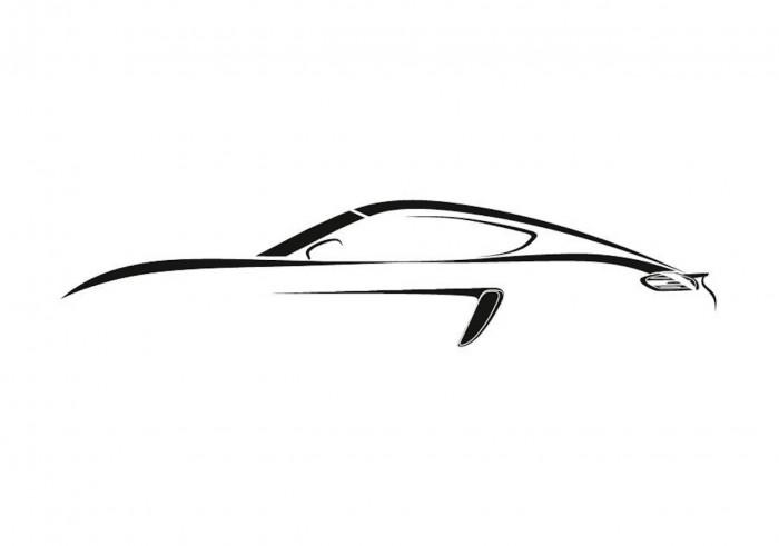 Porsche 718 Cayman silueta