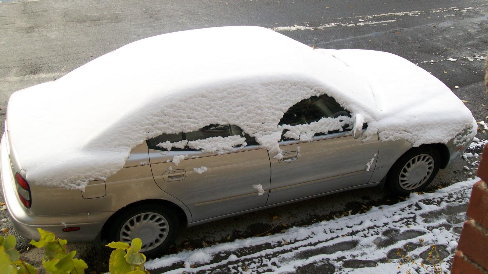 coche con nieve