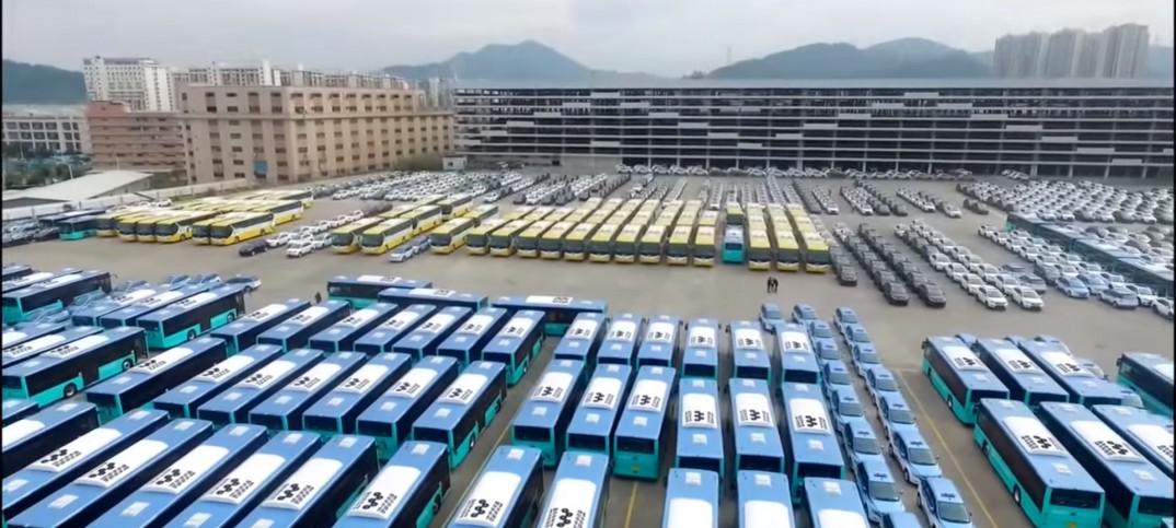 Resultado de imagen de autobus eléctrico BYD flota shenzhen