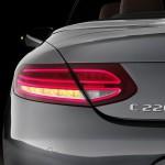 Mercedes-Benz C 220d 4MATIC Cabriolet, Edition 1, Exterieur:  designo selenitgrau magno, AMG Line; Interior: schwarz/nussbraun, Kraftstoffverbrauch (l/100 km) innerorts/außerorts/kombiniert:  5,4/3,9/4,5CO2-Emissionen kombiniert: 116 g/kmExterior: designo selenite grey, AMG Line; interior:  black/nut brown Fuel consumption (l/100 km) urban/ex urban/combined:   5.4/3.9/4.5combined CO2 emissions:  116 g/km