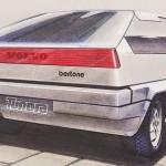 Volvo Tundra Concept 1979 boceto Bertone