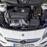Mercedes-AMG CLA 45; C/X117; 2016 AMG 4-Zylinder-Benzinmotor mit Turboaufladung, 280 kW(381 PS), 475 Nm AMG 4-cylinder turbocharged petrol engine, 280 kW(381 hp), 475 Nm