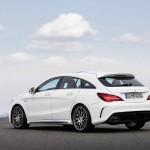 Mercedes-AMG CLA 45 Shooting Brake; X117; 2016Exterieur: Diamantweiß; Interieur: Schwarz, Performance Sitze;Kraftstoffverbrauch (l/100 km) innerorts/außerorts/kombiniert:  9,2/5,6/6,9CO2-Emissionen kombiniert: 162 g/kmExterior: diamond white: interior: black, performance seats;Fuel consumption (l/100 km) urban/exurban/combined:   9.2/5.6/6.9combined CO2 emissions:  162 g/km