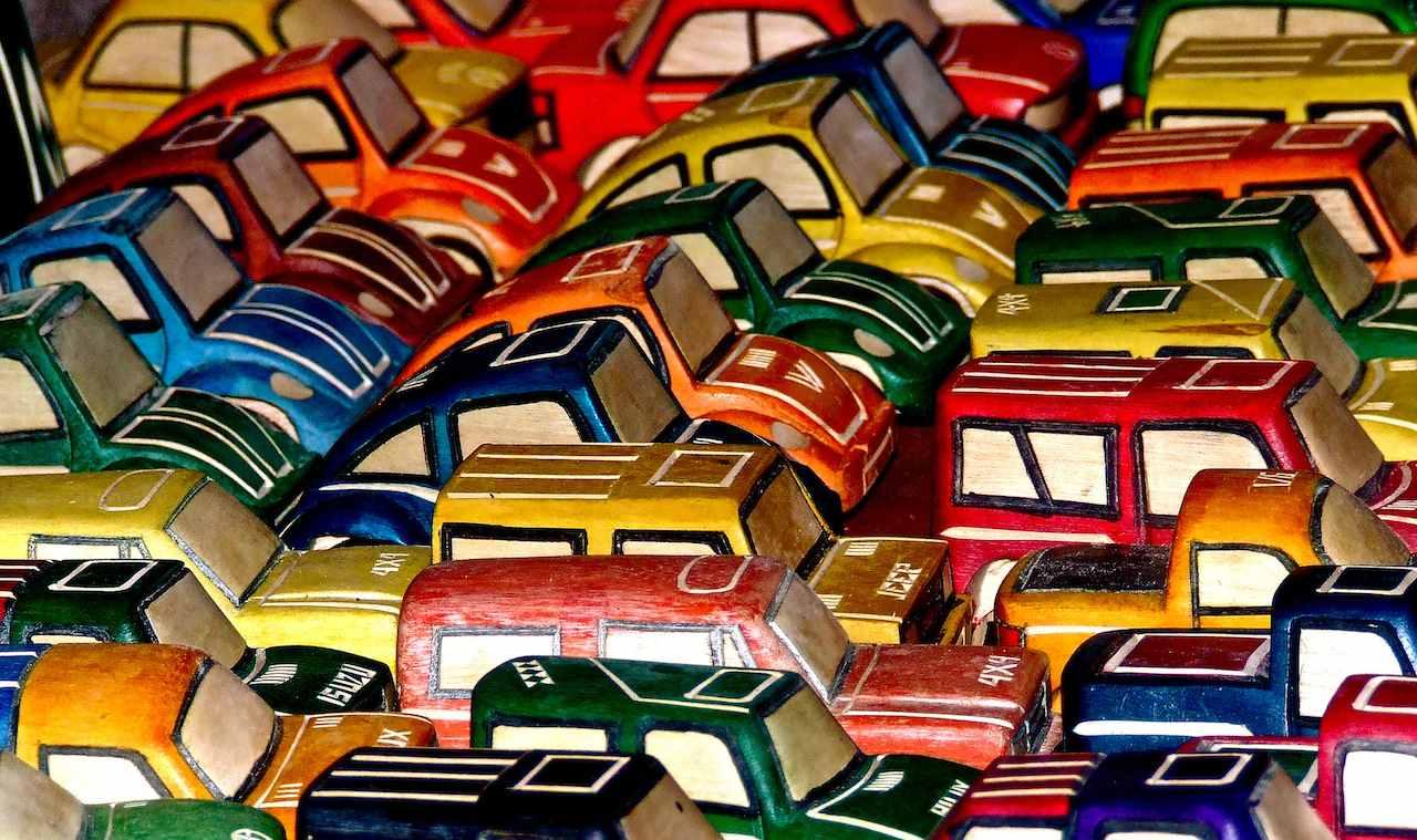 coches juguete madera