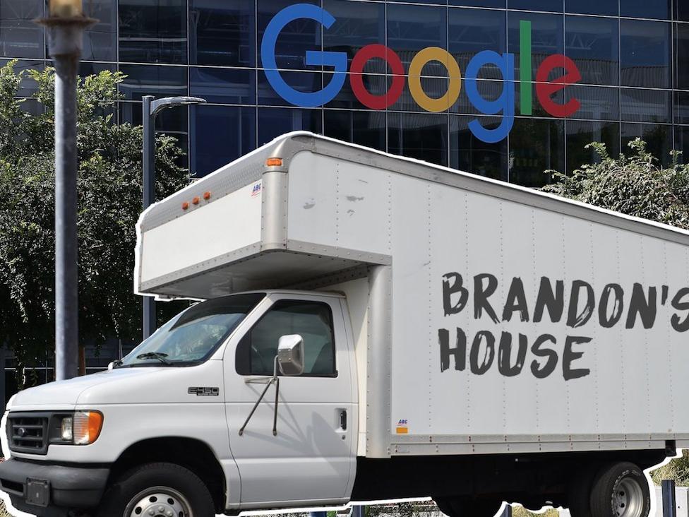 ingeniero Google que vive en camión