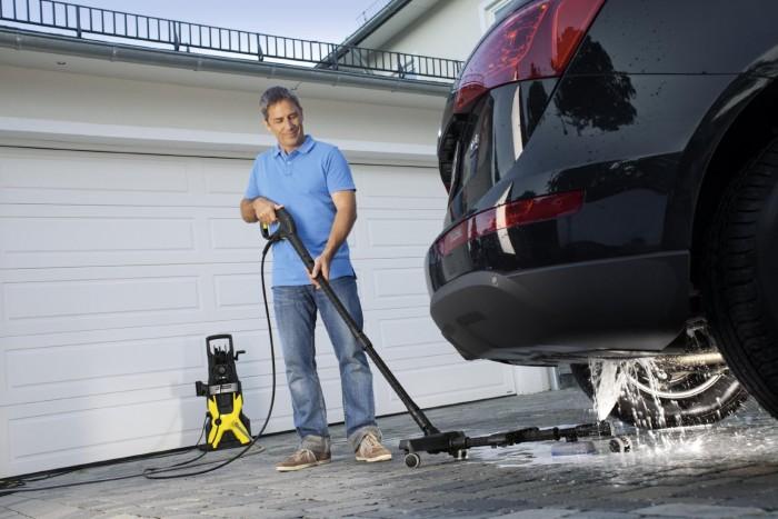 lavado bajos coche