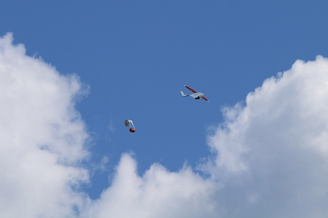Dron Paracaídas Ruanda