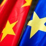 Europa China banderas