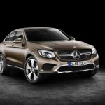 Mercedes-Benz GLC Coupé, Citrinbraun magno. Studioaufnahme Mercedes-Benz GLC Coupé, citrine brown magno. Studio shot.