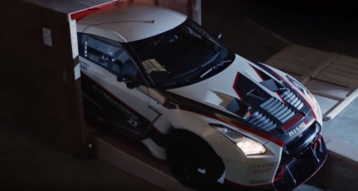 Nissan GT-R guinness record en derrape 03