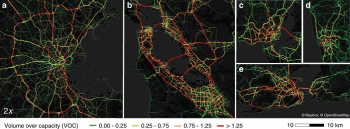 mapa órganico tráfico