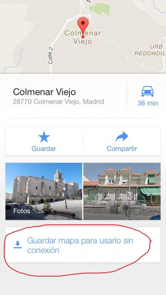 Google Maps sin conexión (3)