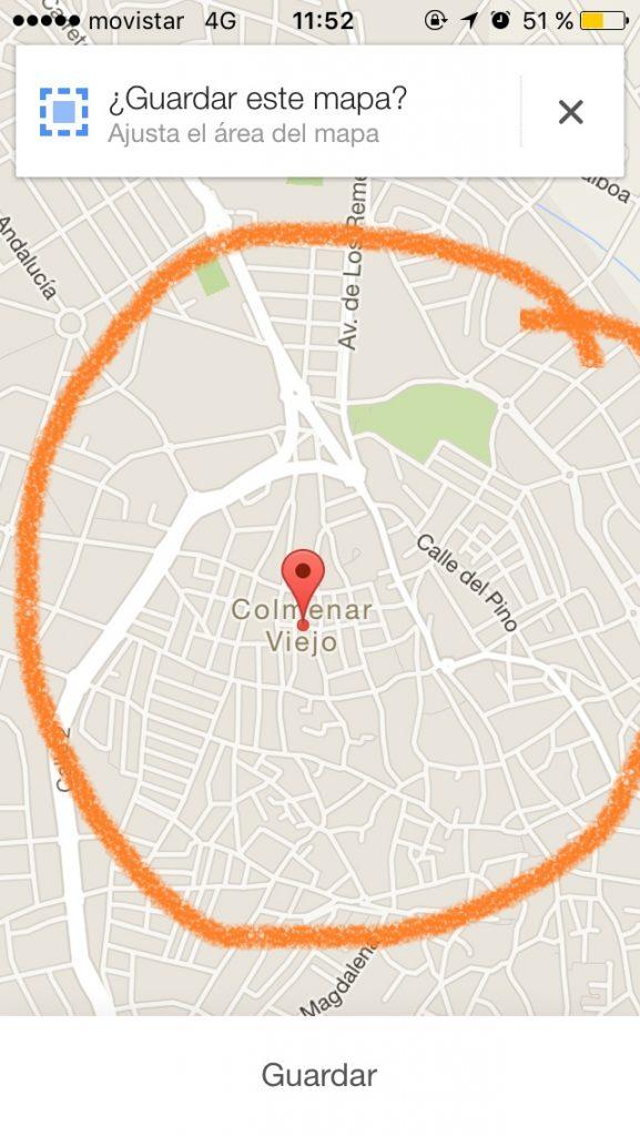 Google Maps sin conexión (4)