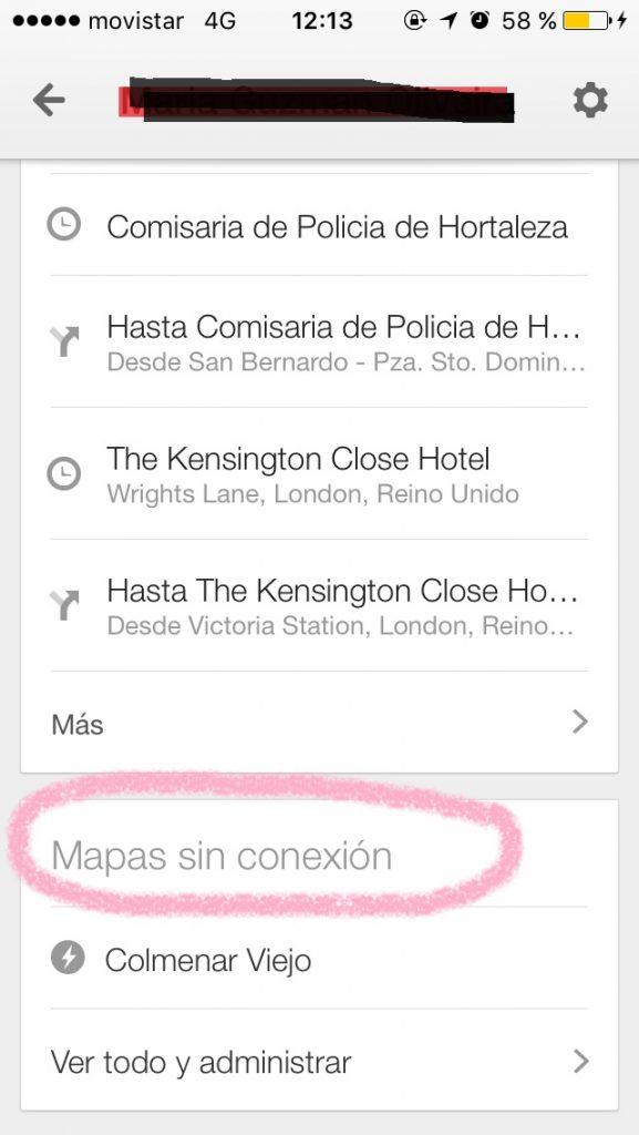 Google maps sin conexion